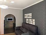 Самоклеящаяся 3D панель под кирпич цвета Кофе 5 мм, декоративные стеновые 3Д панели, фото 3