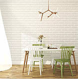 Самоклеючі 3Д панелі, декоративні стенові панелі під цеглу Світло-фіолетовий 7 мм, фото 4