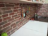 Самоклеюча 3D панель, декоративні стінові 3Д панелі під цеглу Червону Катеринославську, фото 5