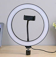 Кольцевая светодиодная LED лампа RING 20см кольцевой свет + штатив 2,1м