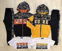 Спортивный костюм 3в1 для мальчика оптом, 116-146 см,  № ZOL-0336