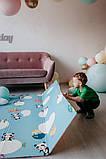 """Дитячий двосторонній килимок складний ігровий """"Тварини - Ростомір"""" 200х150 см + сумка-чохол, фото 5"""