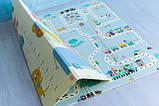 """Дитячий двосторонній килимок складний ігровий """"Тварини - Ростомір"""" 200х150 см + сумка-чохол, фото 7"""