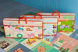 """Дитячий двосторонній килимок складний ігровий """"Тварини - Ростомір"""" 200х150 см + сумка-чохол, фото 8"""