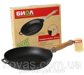Сковорода Биол  d22 см h4,5 см чугун (0122)