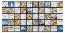 Декоративные Панели ПВХ Плитка море