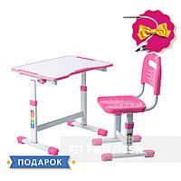 Комплект парта и стул-трансформеры FunDesk Sole II Pink