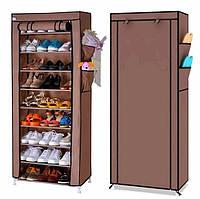Тканевый шкаф для хранения обуви Shoe Cabinet 160х60х30 см / Обувной складной стелаж / Полка-органайзер