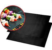 Антипригарный портативный коврик для гриля BBQ grill sheet 33*40 см черный