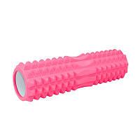 Массажный валик Dobetters Roller Pink 45*13 см ролик для массажа спины шеи роллер
