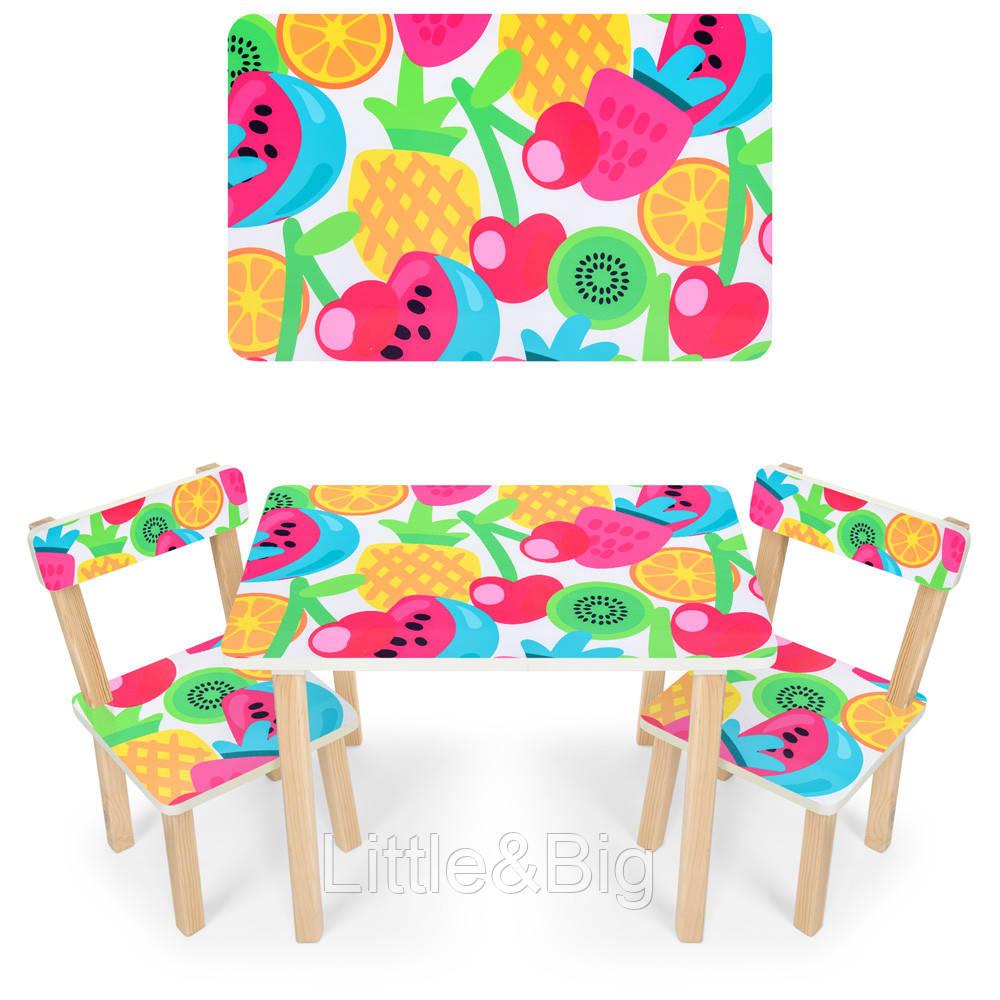 """*Набор мебели - столик и 2 стульчика """"Фрукты"""" арт. 501-76"""