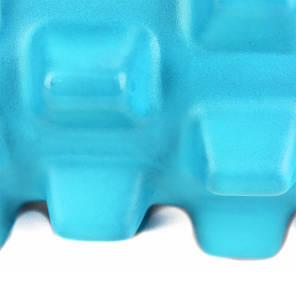 Масажний валик ролик Dobetters Grid Roller ролер Blue 33*12 см, фото 2