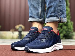 Мужские летние кроссовки Asics,сетка,темно синие с белым, фото 2