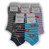 Женские носки Modus - 7,00 грн./пара (короткие, розочки), фото 1