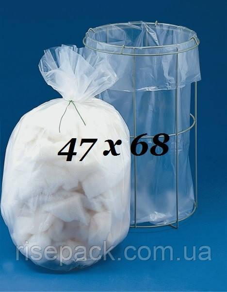 Пакет  полиэтиленовый 47(2х10)х68 см уп/100 шт