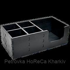 Органайзер БАРНЫЙ деревянный, ЧЕРНЫЙ 30*15см