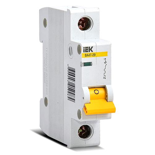 Автоматический выключатель 1P. 25A.C. 4,5кА ИЭK