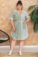 Платье большого размера  Марина (52-66) оливка