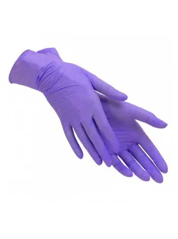 Перчатки SafeTouch нитриловые без пудры размер S 100 шт/уп (фиолетовые)