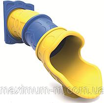 Горка труба прямая для игровой площадки 100 см