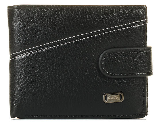 Мужской кошелек из кожзама черный 1210104905, фото 2