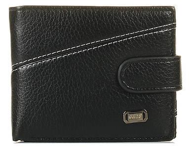 Мужской кошелек из кожзама черный 1210104905