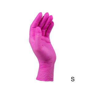 Перчатки SafeTouch нитриловые без пудры размер S 100 шт/уп (маджента)