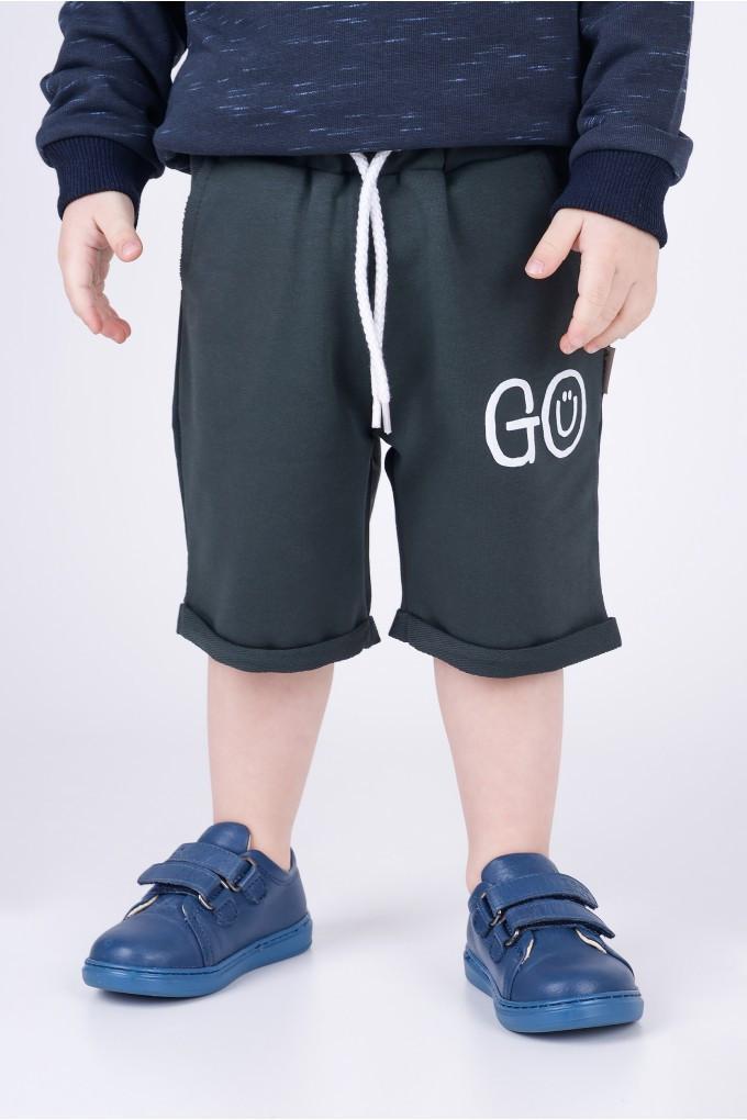 Шорты  для мальчика Go Hart (рост 86) цвет зелёный (до колена)