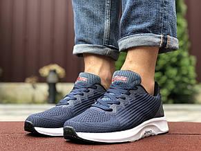 Мужские летние кроссовки Asics,сетка,синие с белым, фото 2