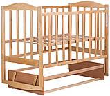 Кровать Babyroom Зайчонок Z204 маятник  лакированная, фото 3