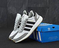 Мужские кроссовки Adidas Iniki Runner Boost Light Grey светло-серого цвета (Адидас Иники Руннер весна/лето), фото 1