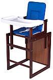 Стульчик- трансформер For Kids Клен-04 темный пластиковая столешница  темно-синий, фото 2