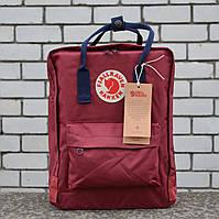 Бордовий Рюкзак в стилі Fjallraven Kanken Classic, бордовий канкен, фото 1