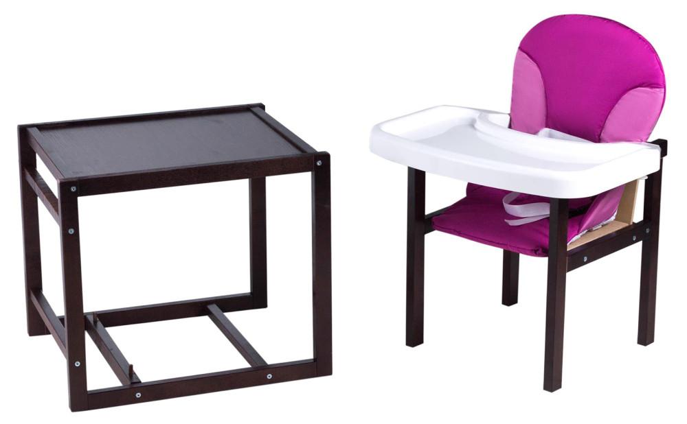 Стільчик - трансформер Babyroom Поні-220 тонований пластикова стільниця малина-рожевий
