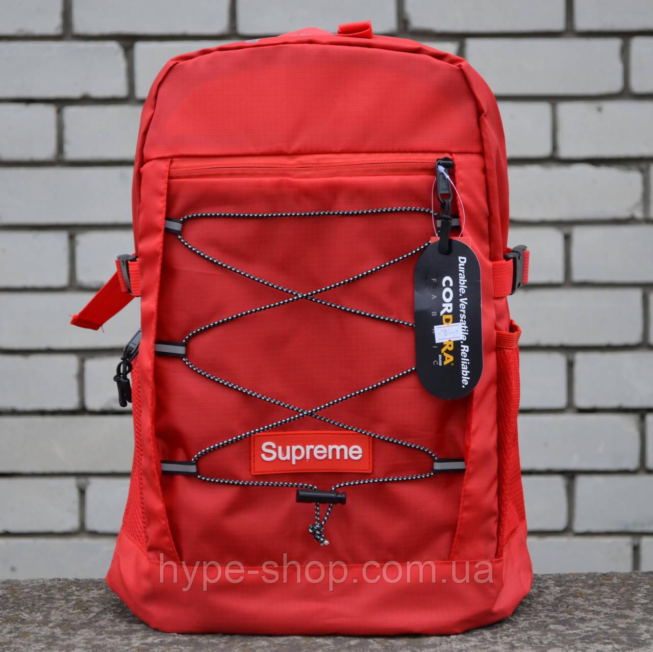 Рюкзак в стилі Supreme червоний