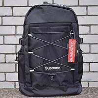 Рюкзак в стилі Supreme, чорний