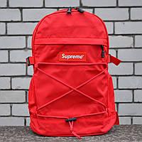 Рюкзак в стилі Supreme червоний, фото 1