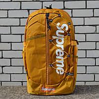Рюкзак в стилі Supreme гірчичний