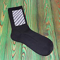 Черные Носки в стиле Off-White Универсальные 36-45