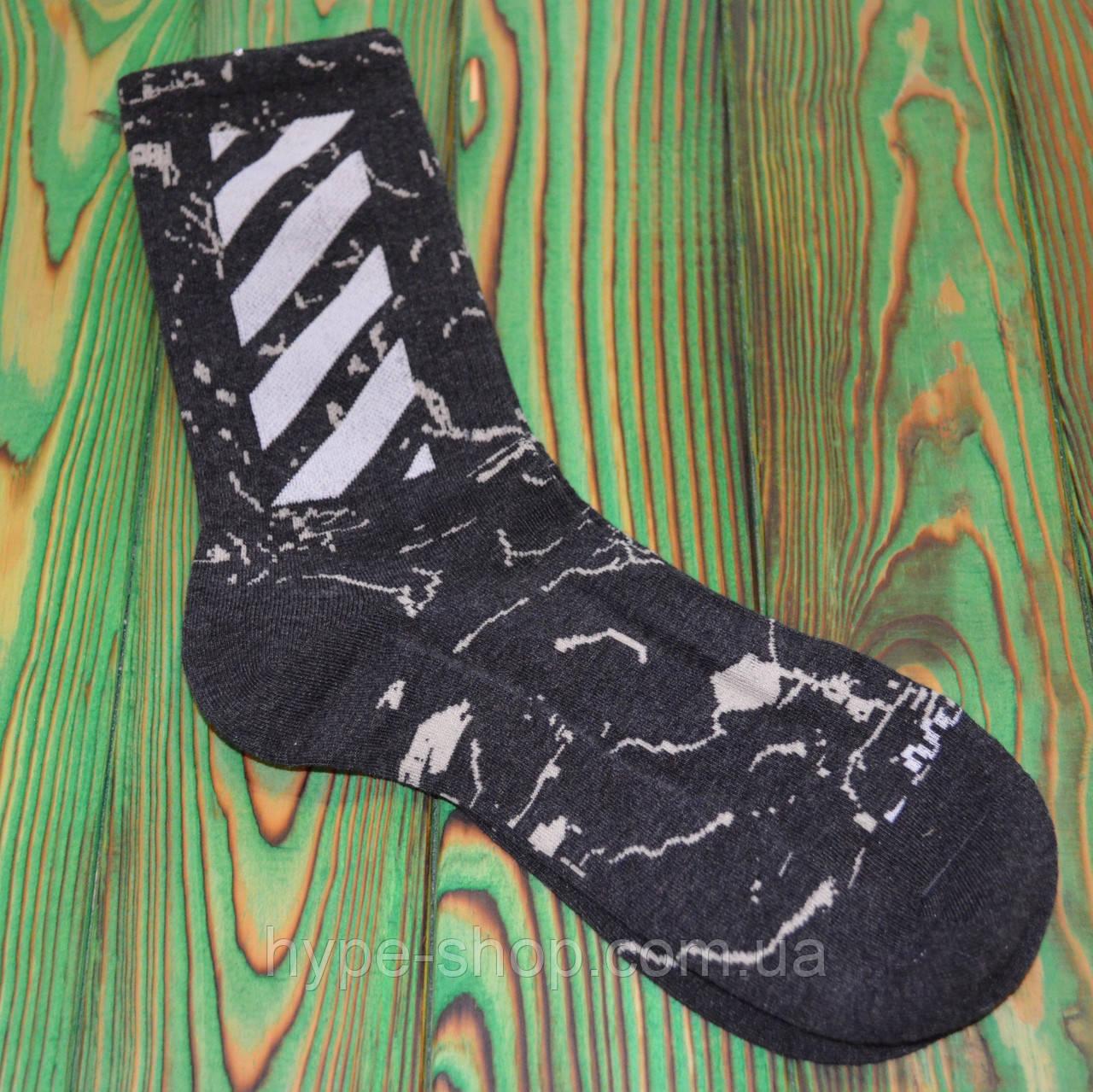 Чорні Шкарпетки в стилі Off-White Універсальні 36-45