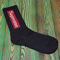 Черные Носки в стиле Supreme Универсальные 36-45