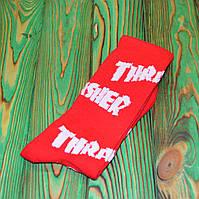 Красные Носки в стиле Thrasher Универсальные 36-45