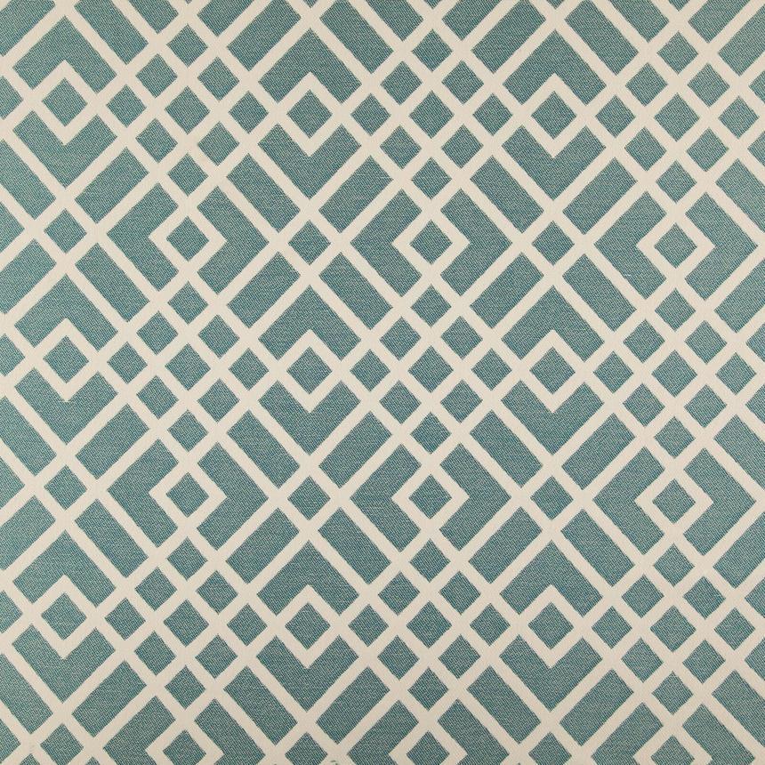 Мебельная ткань с орнаментом для кресла Хай Лайн Кросроадс (High Line Crossroads) голубого цвета