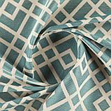 Мебельная ткань с орнаментом для кресла Хай Лайн Кросроадс (High Line Crossroads) голубого цвета, фото 2
