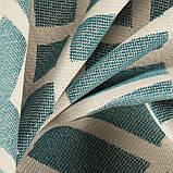 Мебельная ткань с орнаментом для кресла Хай Лайн Кросроадс (High Line Crossroads) голубого цвета, фото 3