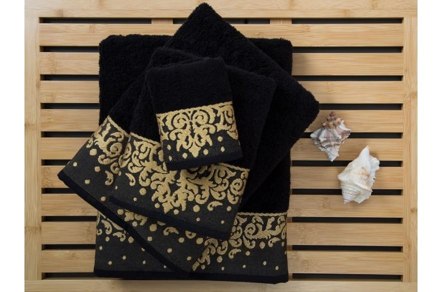 Полотенце банное 90х150 IRYA Flossy черное