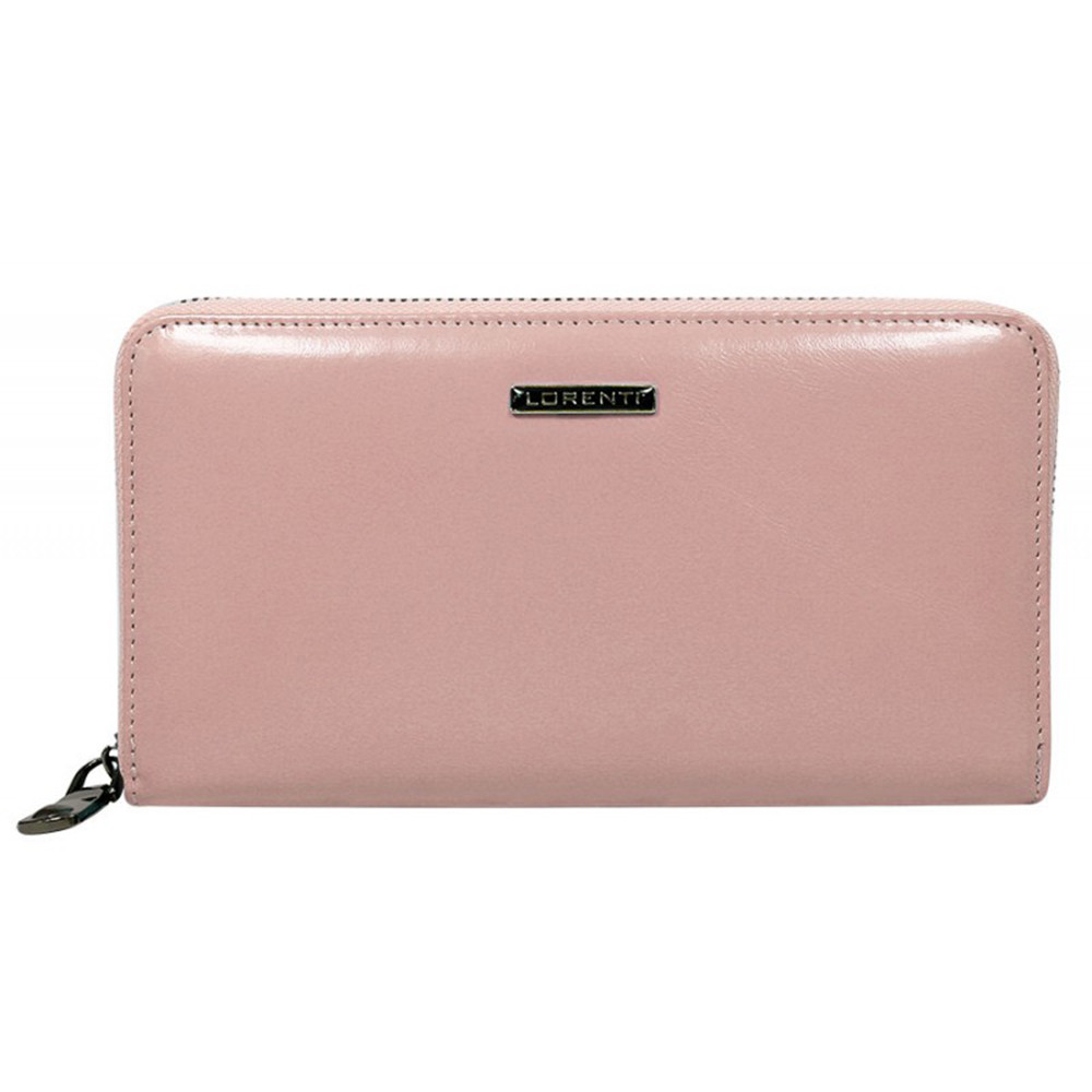 Кошелек женский кожаный на молнии розовый Lorenti 76119 NIC Salmon