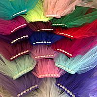 Фата разноцветная / цветная 50 см