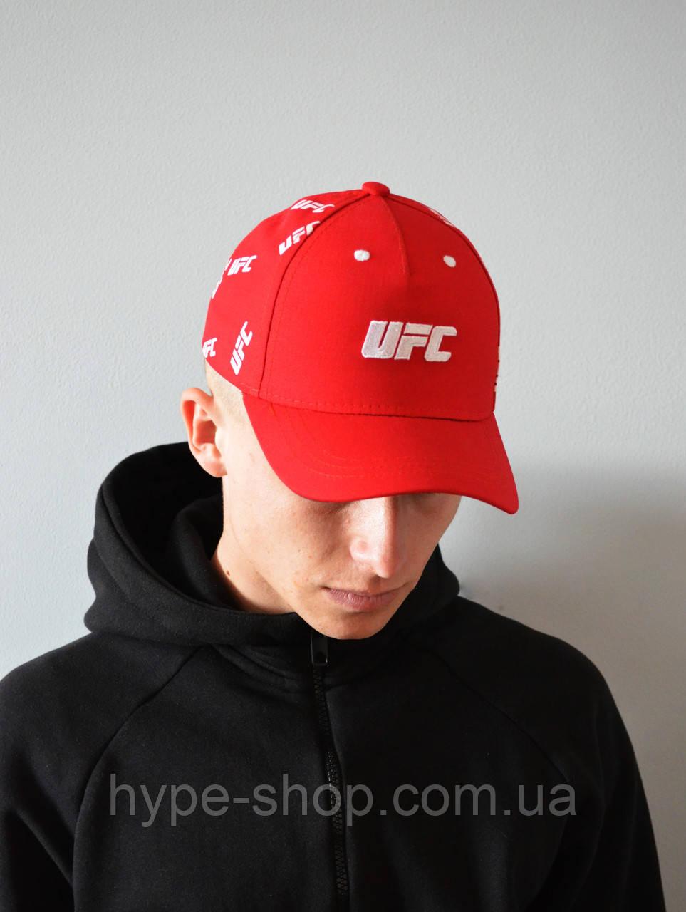 Мужская Кепка красная UFC | Отличный выбор