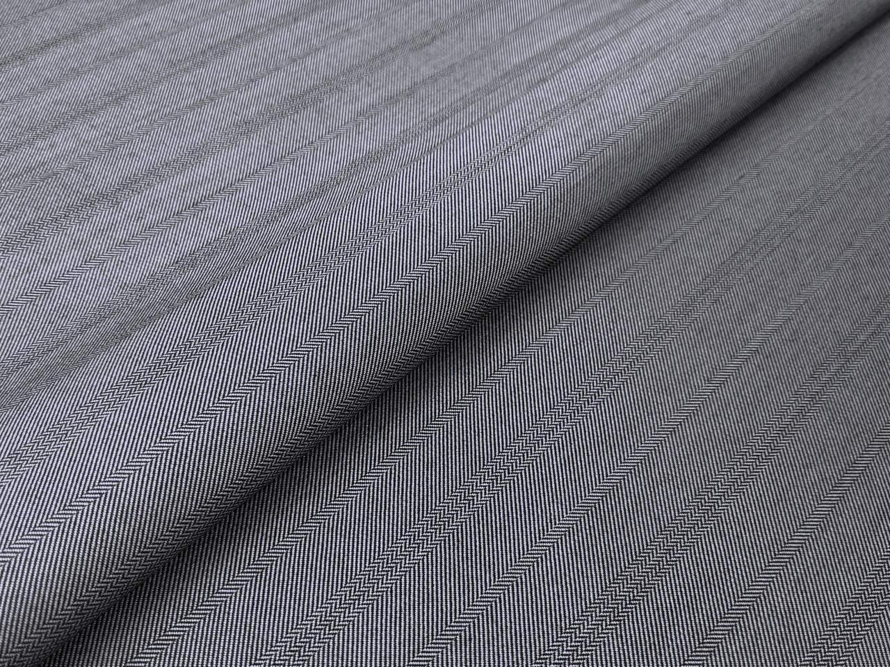 Костюмная Вива полоска елочка 25 мм, серый